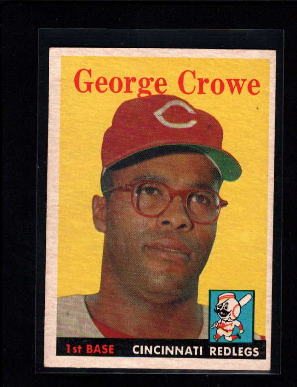 1958 TOPPS #12 GEORGE CROWE EX-MT  A1056