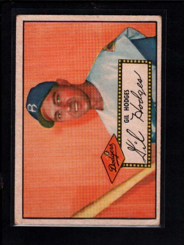 1952 TOPPS RED #36 GIL HODGES VG-EX A6894