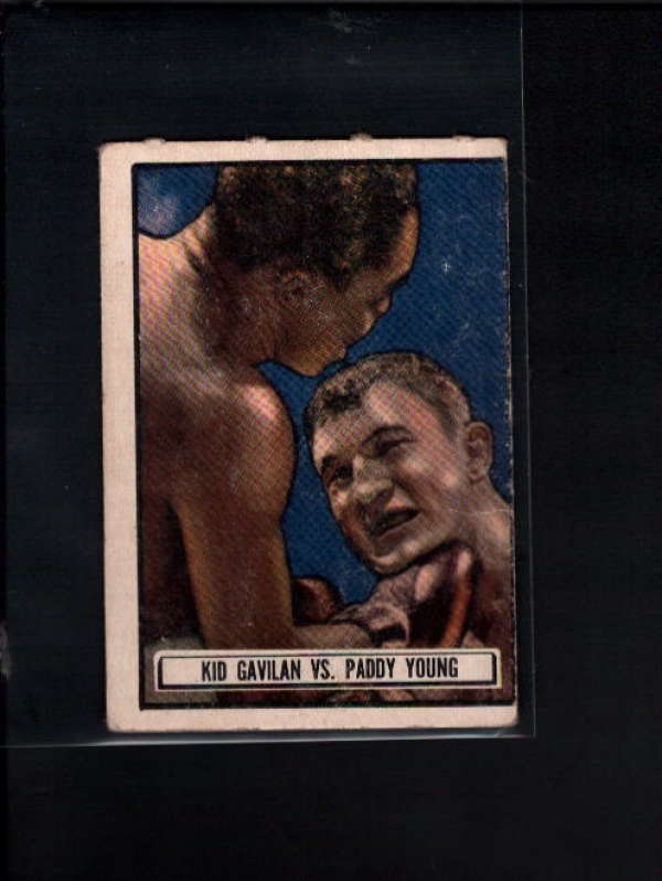 1951 TOPPS RINGSIDE #75 KID GAVILAN VS. PADDY YOUNG VG A7326