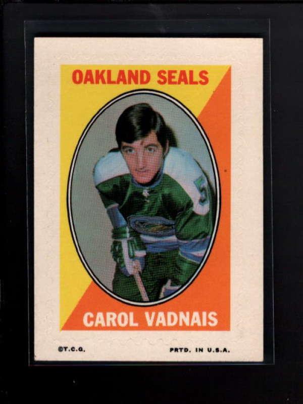 1970-71 TOPPS STICKERS CAROL VADNAIS NM A8496