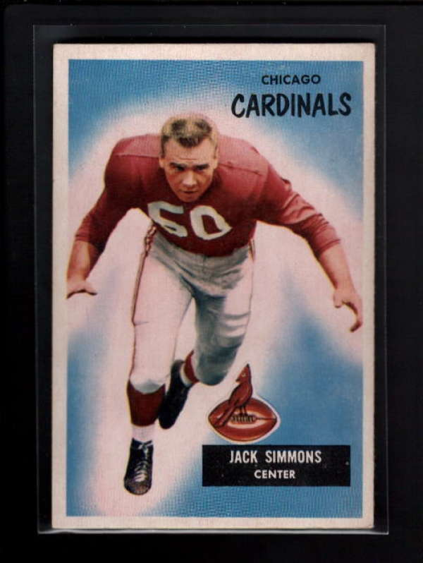 1955 BOWMAN #27 JACKS SIMMONS EX B1595